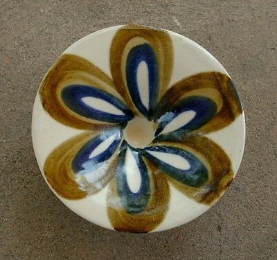 Vintage EVANGEL POTTERY Hand-Crafted Taper Candle Holder, Albuquerque NM