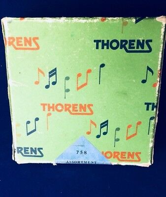 Vintage Thorens Music Box Discs, Switzerland - 758 Assortment- (6) Six Disks