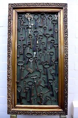 Antique Vintage 75 Keys Collection Wall Art Collector Craft Home Art Unique Deco