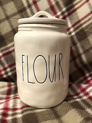 Rae Dunn FLOUR Canister LARGE LETTER Artisan Collection VERY HARD TO FIND!
