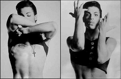"""PRINCE-1980's 2X Poster Set-No Shirt! B&W 22"""" X 33"""" Promo Only Posters"""