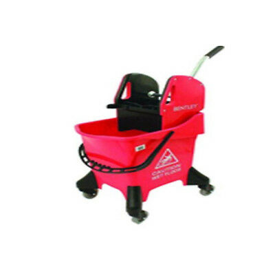 Bentley Plastic Red Kentucky Wheeled Mop Bucket Tools Cleaning Non-rusting