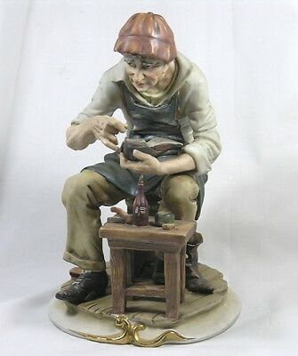 RARE Antique Ceramic Model of a Cobbler 'The Old Shoemaker'