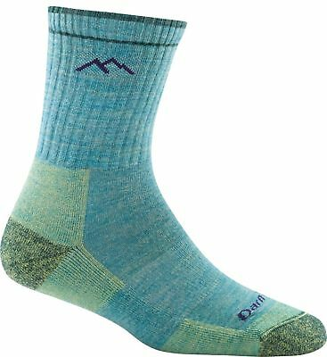 Darn Tough Women's Micro Crew Cushion Socks, Aqua Heather, Large