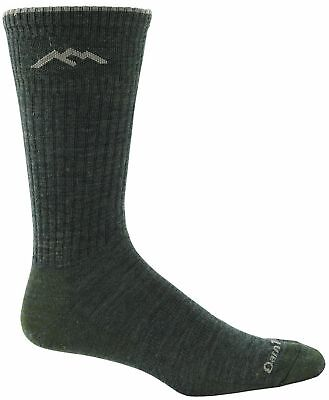 Darn Tough Vermont Merino Wool Dress Crew Light Sock Olive large (10-12)