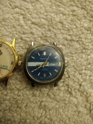 VINTAGE WALTHAM SWISS INCABLOC Wind-up 17 JEWELS wrist watch day date +2 watches