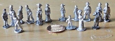 HO: Scale Huge Lot of Craftsman White Metal Victorian Era People Figures Mint