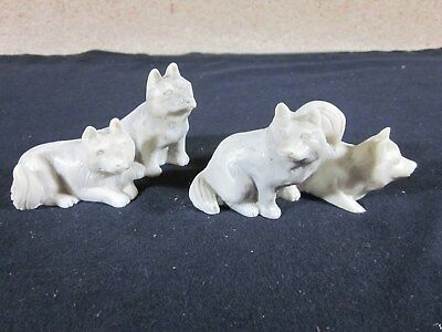 Lot of 2 - Sled Dogs - Resin - Made to Look Like it is Hand Carved Stone