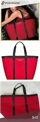 a63d58d5b28 NIP Victoria s Secret 2017 Holiday Red Black Tote Bag So Cute New With Tags