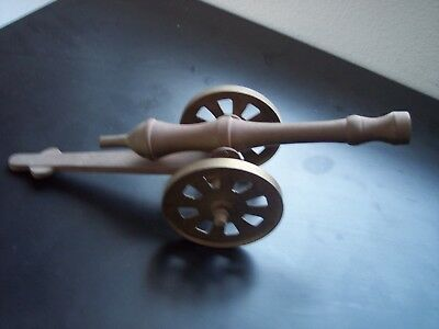 Vintage Solid Brass Desktop Replica Cannon Large 11 inch Size