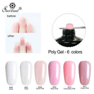 Poly Gel Nail Tool For Nail Tips Polygel Extension Camouflage UV LED Gel Acrylic
