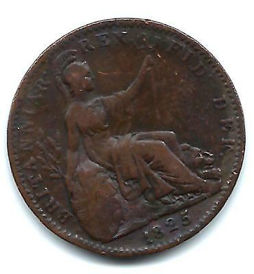 1825 Farthing Extra nice coin