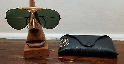 Vintage RAY BAN BAUSCH & LOMB bullet hole shooting glasses Aviator - USA