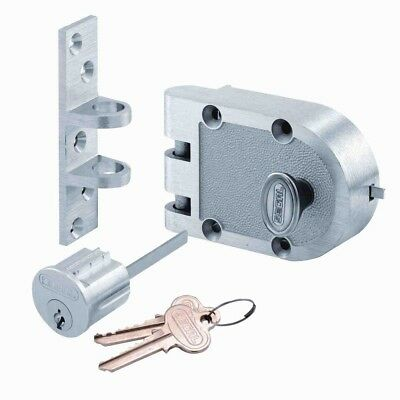 Prime-Line Single Cylinder Chrome Jimmy-Proof Deadbolt Chrome Brushed Plating