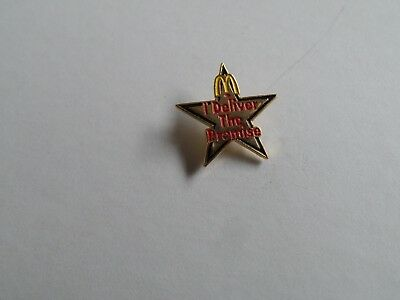 McDonald's Restaurant Employee Pin I Deliver The Promise Pin