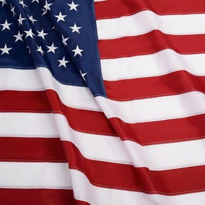 American US Flag 3x5 ft Heavy Duty Embroidered Stars Sewn Stripes Grommets Nylon