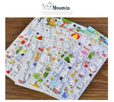 AU LOCAL SELLER -  Moomin Valley Puffy Plastic Sticker DIY Scrapbook Decor
