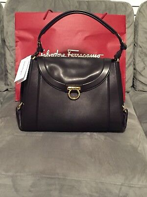 172c05294a SALVATORE FERRAGAMO WOMEN S New Black Large Soft Sofia Hobo Handbag