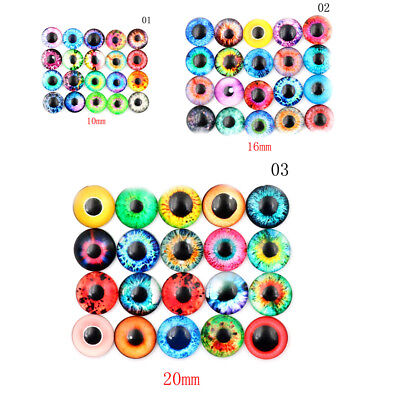 20pcs 10MM/16MM/20MM DIY Crafts Gem Eyeballs Glass Dolls Eyes  Z