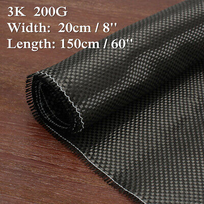 3K 200gsm Real Plain Weave Carbon Fiber Cloth Carbon Fabric Tape 8'' x 60''