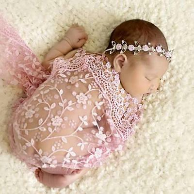 Newborn Boy Girls Props Baby Kids Photo Props Photography Quilt With Headbands