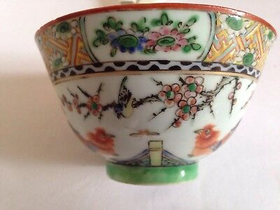 Antique Chinese Famille Verte Chicken Cup-19th Century-Fine Example