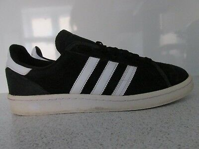 Mens Adidas Trainers Size Uk 8 Black Suede Good Condition L@@k