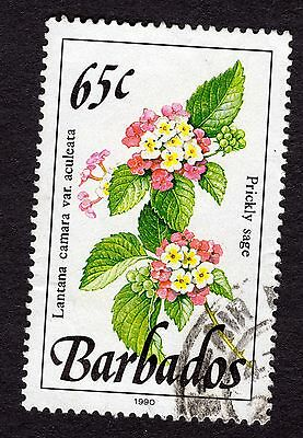 1990 Barbados 65c Wild plants Prickly sage SG930 FINE USED R32776