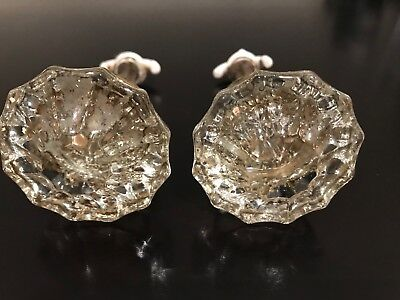 Antique Vintage Crystal Door Knobs Lot of 2