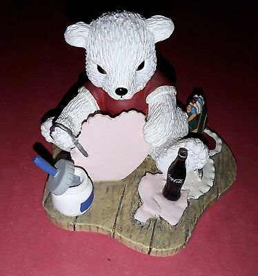 """Coca Cola POLAR BEAR CUBS """"With All My Heart"""" 1996 H72036 Valentine's Day"""
