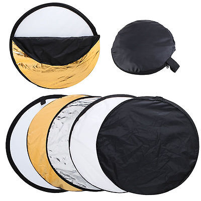 5 in 1 80cm Photo Studio Collapsible Multi Light Reflector Case For Photography