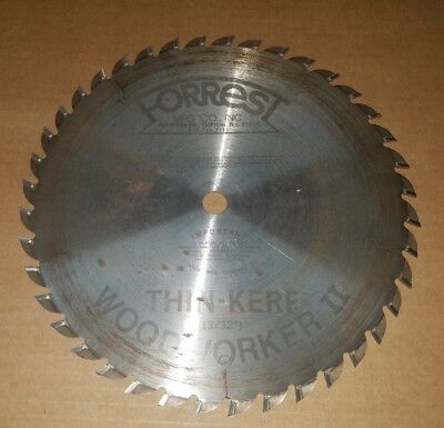 "Forrest Woodworker II 10 Inch 40 Tooth ATB Thin Kerf Saw Blade 5/8"" Arbor"