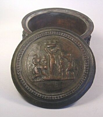 An Antique  Pottery with Bronze coating Box T44
