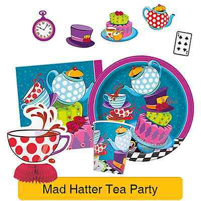 MAD HATTER TEA PARTY Tableware & Decorations (Birthday/Alice In Wonderland)(1C)