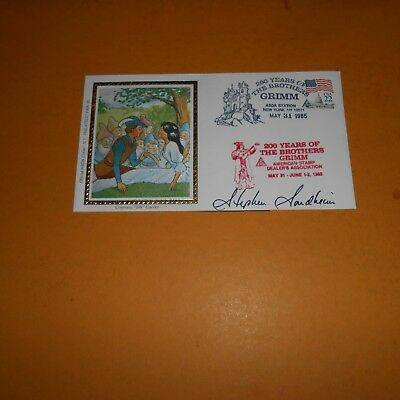 Stephen Sondheim is an American composer and lyricist Hand Signed FDC