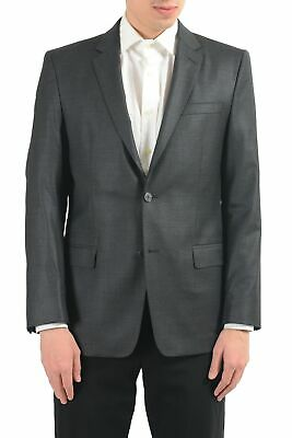 Versace Collection Men's Wool Gray Two Button Blazer Sport Coat Size 38 40 42 44