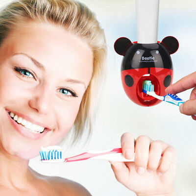 Automatic Toothpaste Dispenser Squeezing Holder Kawaii Practical Colorful Tools