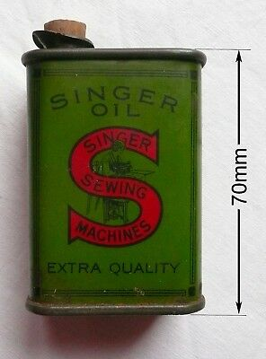 Vintage Singer Sewing Machine Oil Can Collectors Item