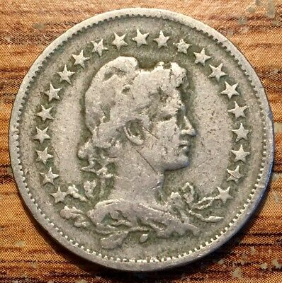 1919 Brazil 200 Reis Lady Liberty Coin - Republic Coinage