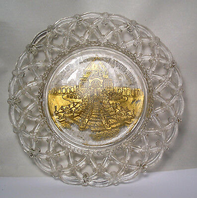 A 1904 St. Louis Worlds Fair Goofus Glass Plate A23