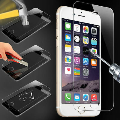 4 x 100% Genuine Tempered Glass Screen Protector Film For Apple iPhone 6 - NEW