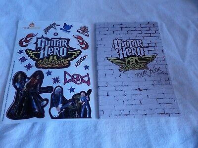 Never Used Guitar Hero Aerosmith Tour Book and Stickers