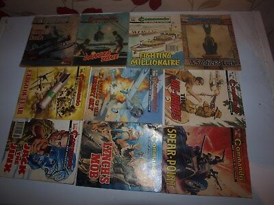 10 Old Commando and battle picture library War books Retro Collectable 10