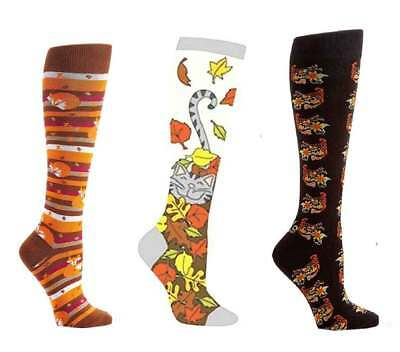 Yo Sox Women's Fall Harvest Thanksgiving Themed Fashion Knee High Socks