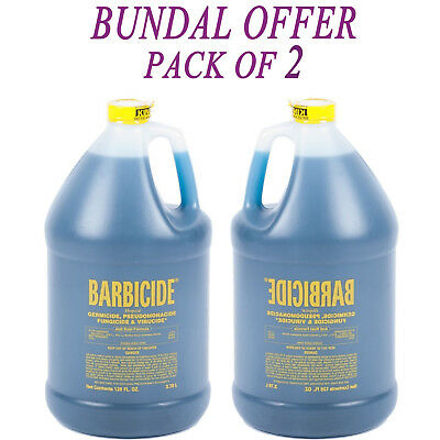 2x Barbicide Disinfectant Concentrate Solution Anti Rust GERMICIDAL 64oz Each