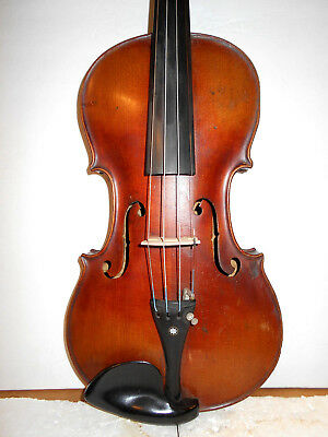"Old Vintage Antique ""Jacobus Stainer"" 2 Pc. Back Full Size Violin - No Reserve"