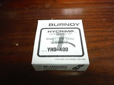 Lot Of (5) Burndy Hycrimp Yhd-400 Compression Tap Connectors