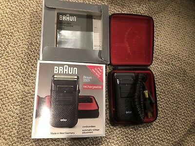 Vintage Braun 2501 rechargeable shaver