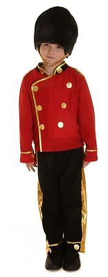 Kids Boy Buzby Royal London Childs Queen Guard Soldier Fancy Dress Costume Party