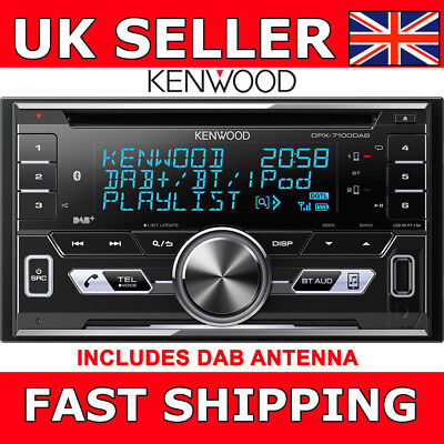 Kenwood DPX7000DAB Double Din Car CD Stereo Bluetooth USB iPod iPhone DAB Aerial